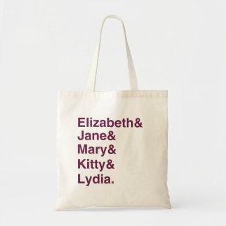 Pride & Prejudice Jane Austen Typography Tote Bag