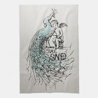 Pride & Prejudice Peacock The End kitchen towel