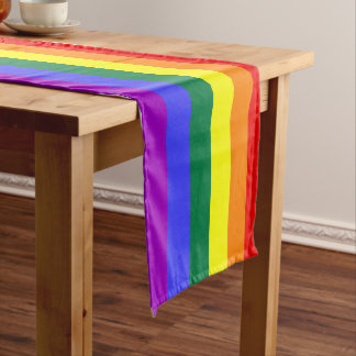 "Pride rainbow 16"" X 108"" large table runner"