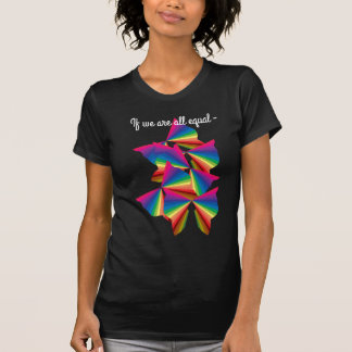 PRIDE Rainbow Butterflies Equality Diversity Artsy T-Shirt