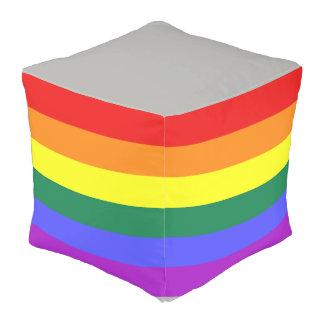 Pride rainbow flag pouf