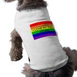 pride rainbow, I LOVE MY TWO MOMS Sleeveless Dog Shirt