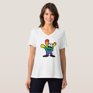 Pride relaxed V-Neck tee shirt