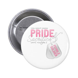 Pride Sacrifice - Female Soldier Buttons