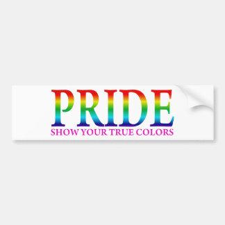 Pride - Show Your True Colors Bumper Sticker