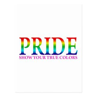 Pride - Show Your True Colors Postcard