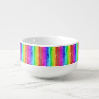 Pride symbol flag giving a discrimination lifesty soup mug