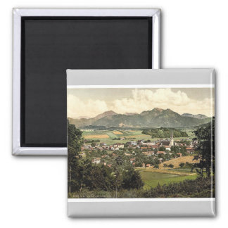 Prien on Chiemsee, Upper Bavaria, Germany rare Pho Square Magnet