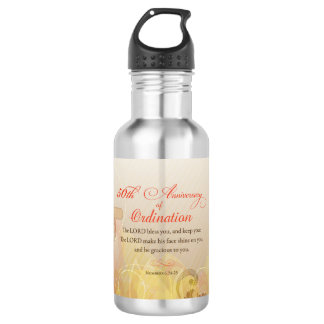 Priest, 50th Anniversary of Ordination Blessing 532 Ml Water Bottle