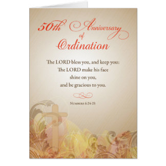 Priest, 50th Anniversary of Ordination Blessing Card