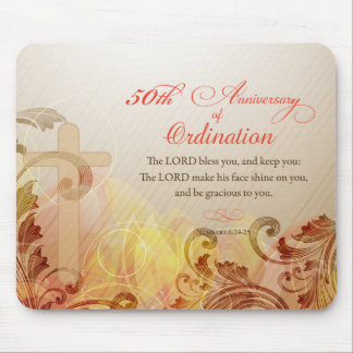 Priest, 50th Anniversary of Ordination Blessing Mouse Pad