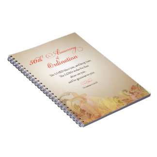 Priest, 50th Anniversary of Ordination Blessing Notebook