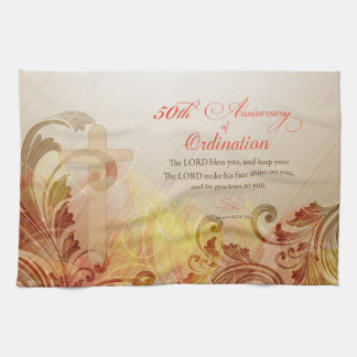 Priest, 50th Anniversary of Ordination Blessing Tea Towel