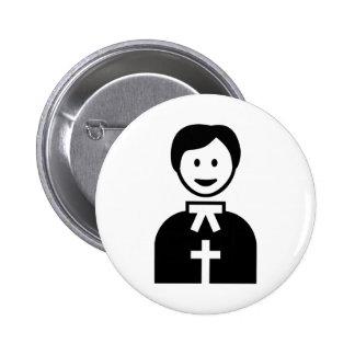 Priest 6 Cm Round Badge