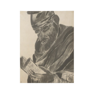 Priest Charcoal Drawing Wood Poster