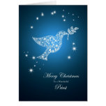 Priest, Dove of peace Christmas card