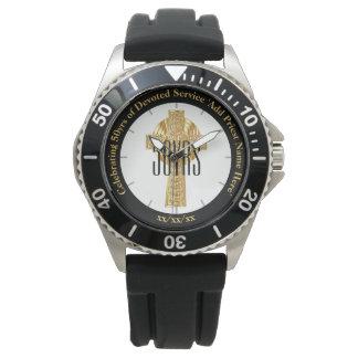 Priest Gift Ordination Anniversary Sporty Custom Watch