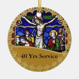 Priest Ordination 40th Anniversary Commemorative Ceramic Ornament
