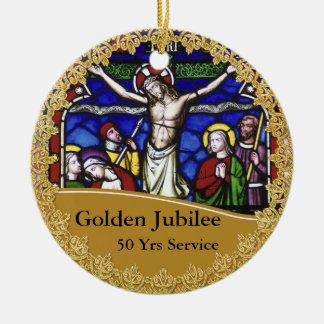 Priest Ordination 50th Anniversary Commemorative Ceramic Ornament