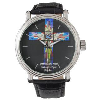 Priest Ordination Anniversary gift Cross Watch
