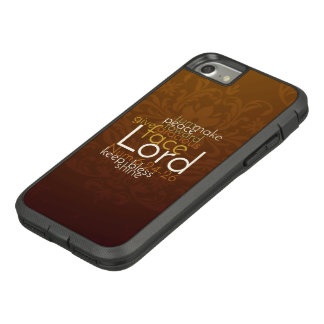 Priestly Blessing on Copper Brown Damask Case-Mate Tough Extreme iPhone 8/7 Case