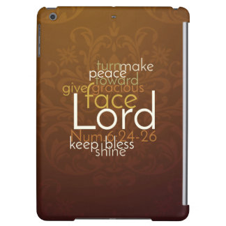Priestly Blessing on Copper Brown Damask iPad Air Cover