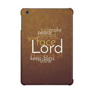 Priestly Blessing on Copper Brown Damask iPad Mini Retina Cover