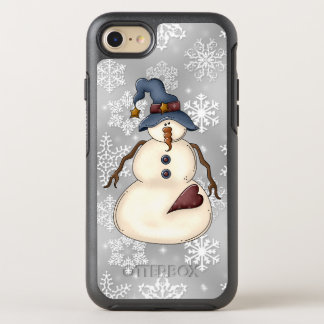 Prim Christmas snowman Holiday iPhone seven case