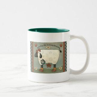 Prim Country Sheep Coffee Mug