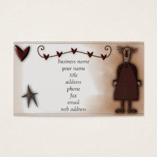 Prim Doll w/Hearts Profile Card