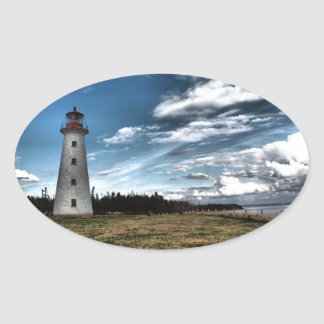 Prim Point Lighthouse Oval Sticker