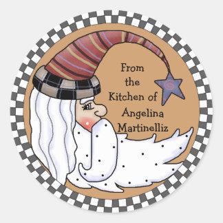Prim Santa Moon Food Gift Sticker