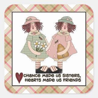 Prim sisters cartoon fun sticker