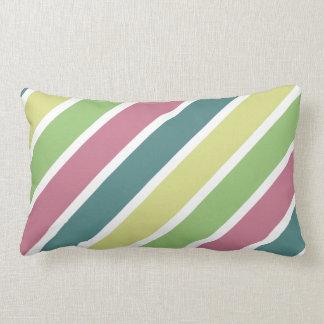 Primarily Stripes Cushion, Diagonal Throw Pillow