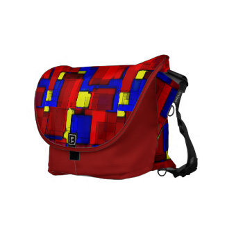 Primary Abstract Messenger Bags