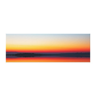 Primary Abstraction - Sunset on Swan Bay Canvas Print