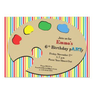 Primary Art Party - Personalized Invitation