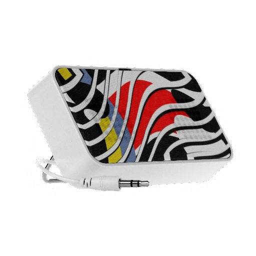 Primary Color Patterned IPhone Speakers