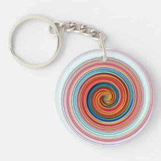 Primary Color Swirls Key Ring