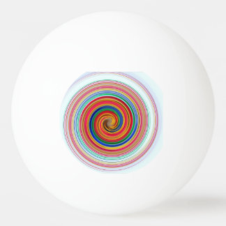 Primary Color Swirls Ping Pong Ball