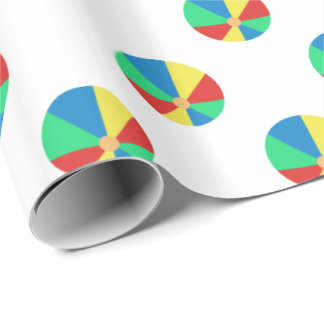 Primary Colors Beach Balls Wrapping Paper