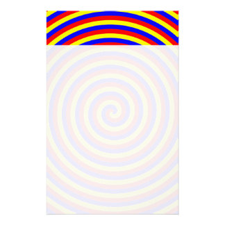 Primary Colors. Bright and Colorful Spiral. Stationery