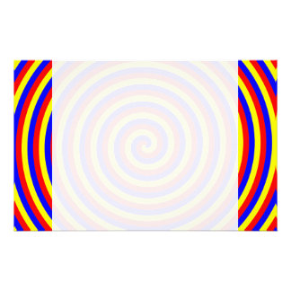 Primary Colors Bright and Colorful Spiral Custom Stationery