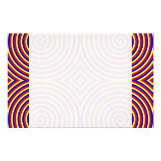 Primary Colors. Bright and Colorful Spirals. Stationery