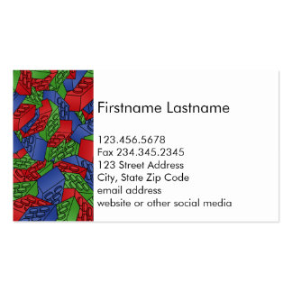 Primary Colors Building Blocks Pattern Pack Of Standard Business Cards