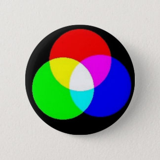PRIMARY COLORS - EDIT YOUR OWN TEXT OVER THIS 6 CM ROUND BADGE