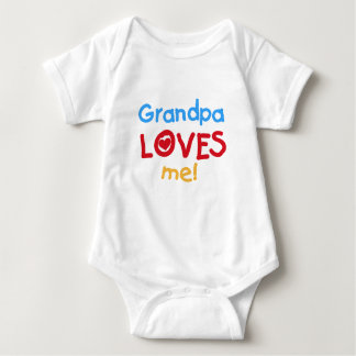 Primary Colors  Grandpa Loves Me Tshirts