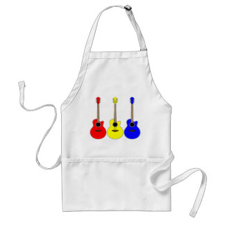 Primary Colors Guitars Vector Pop Art Design Standard Apron