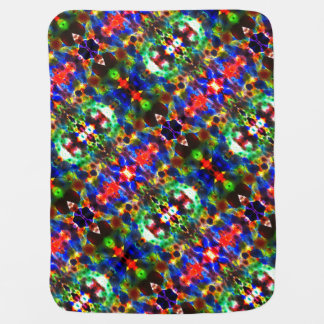 Primary Colors Kaleidoscope Baby Blanket