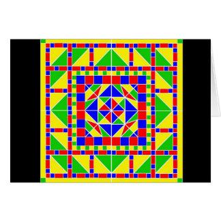 Primary Colors Rangoli 2 Diwali Card